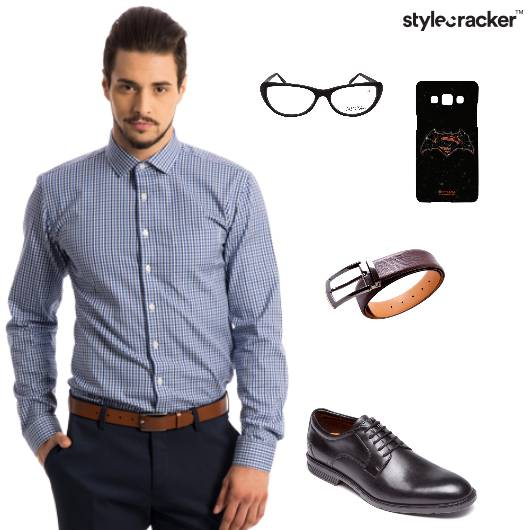 Shirt Trousers Oxfords Belt Work - StyleCracker