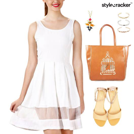 Pleated Dress Tote Bag Flats Event - StyleCracker