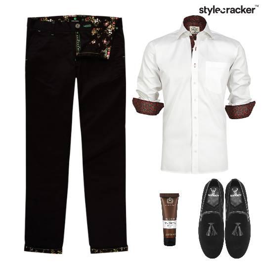 Print Shirt Chinos Dinner SemiFormal - StyleCracker