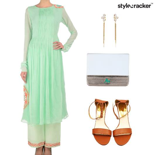 Indian Festive Ethnic Flats Clutch  - StyleCracker