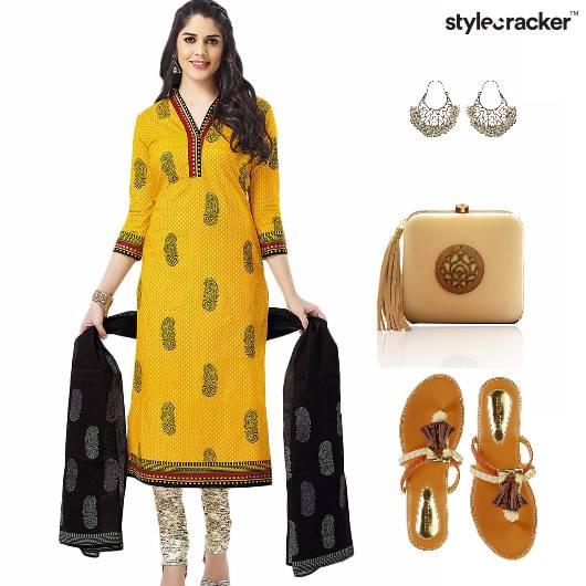 India Festive Flats Clutch  - StyleCracker