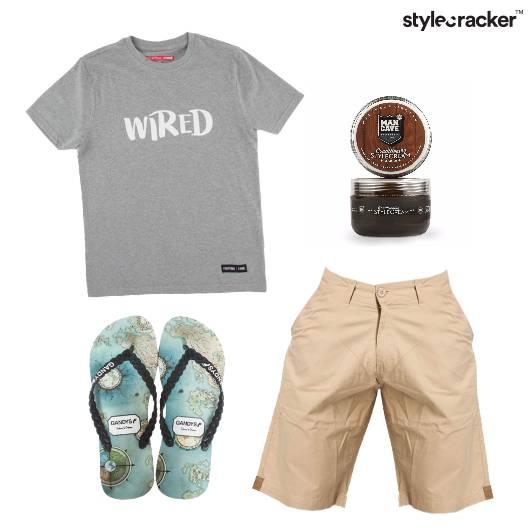Graphic Tshirt Shorts Flipflops Casual - StyleCracker