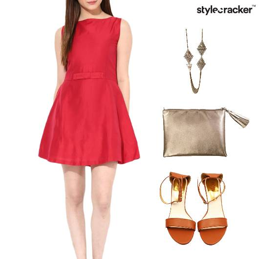 Pleated Dress Clutch Flats Dinner - StyleCracker