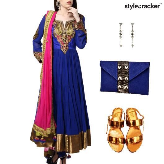 Indian Reception Wedding Ethnic Anarkali - StyleCracker