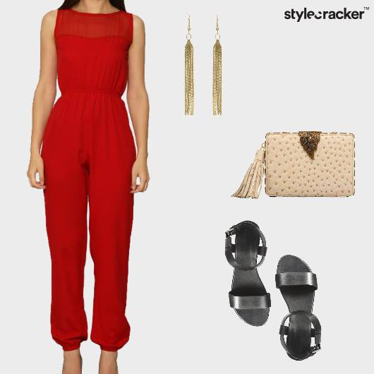Jumpsuit Casual Embellished Clutch  - StyleCracker