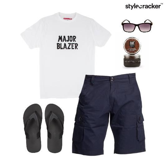 TShirt FlipFlops Lunch Vacation Beach - StyleCracker