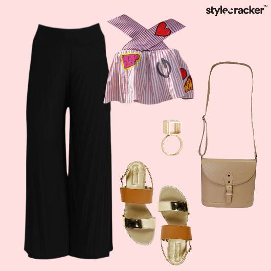 Palazzos Patchwork Casual Day  - StyleCracker