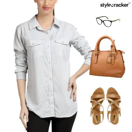 Stripe Shirt Work Bag Meeting - StyleCracker