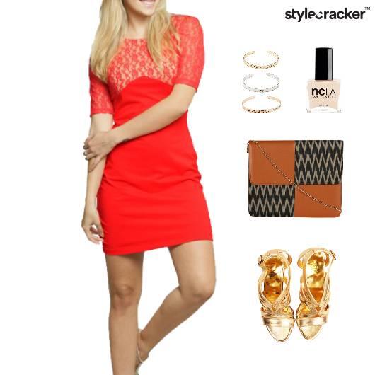 Lace Dress SlingBag Lunch Date - StyleCracker