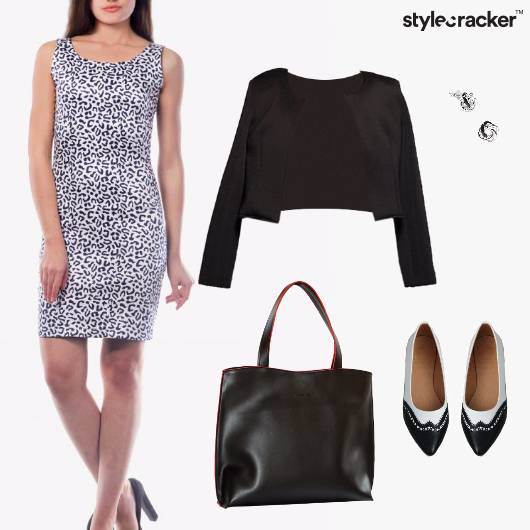 BodyCon Dress Blazer Animal Work - StyleCracker