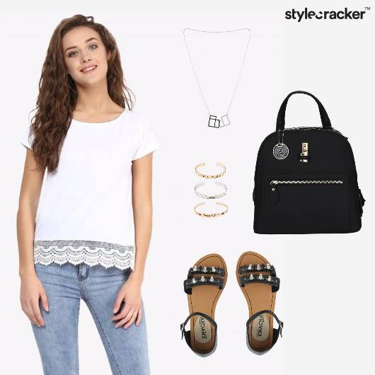 Lace Top Pants Casual  - StyleCracker