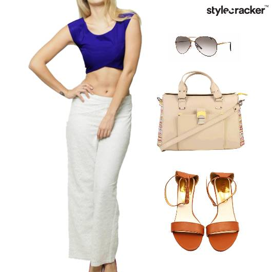 CropTop Pants Flats Lunch Event - StyleCracker