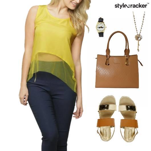 Sheer Top  Flats Accessories Lunch - StyleCracker