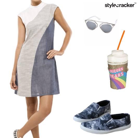 ShiftDress Sunglasses Canvas SlingBag Casual - StyleCracker
