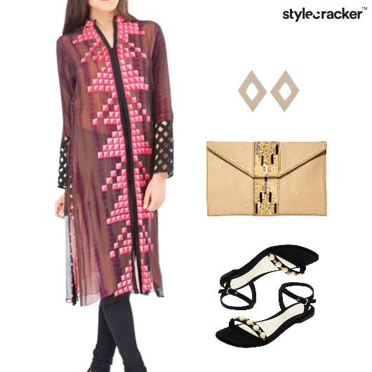 Indian Festive Clutch Flats Work - StyleCracker