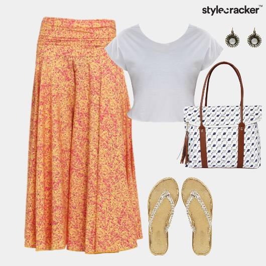 CropTop Printed Pants Flats Event - StyleCracker