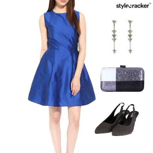 Pleated Dress Clutch Dinner Party - StyleCracker