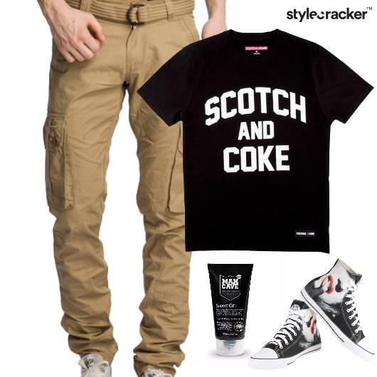 Slogan TShirt HiTop Footwear Lunch - StyleCracker