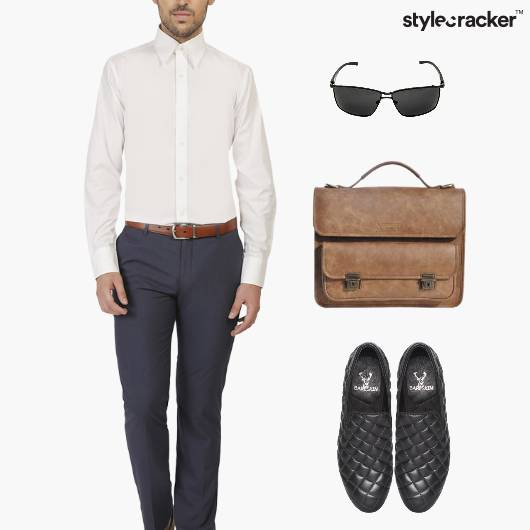 Shirt Chinos SlipOn Work Meeting - StyleCracker