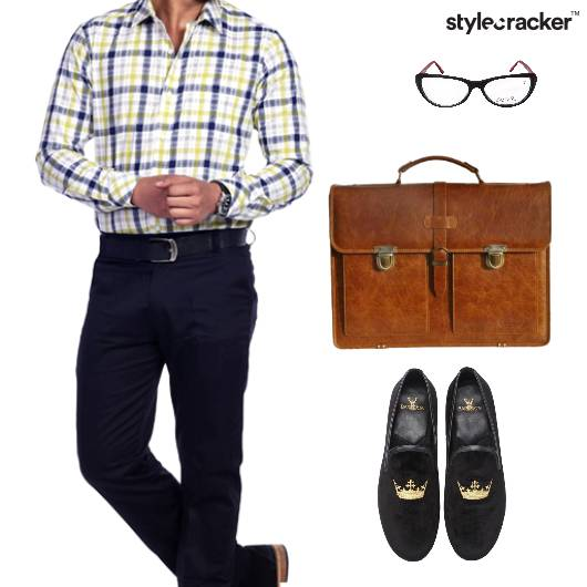 Shirt Pants Slipons HandBag Glasses  - StyleCracker
