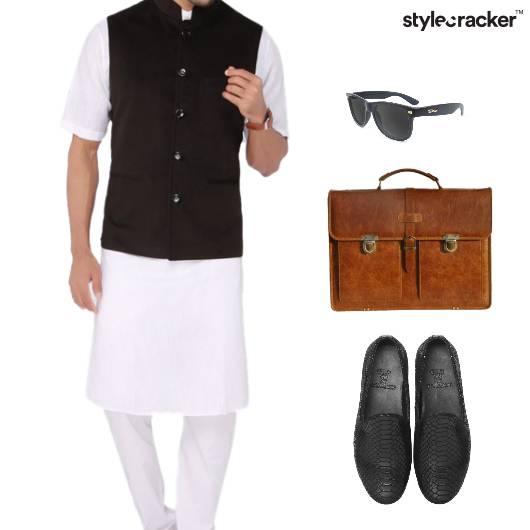 Kurta ModiJacket Handbag Slipons Ethnic - StyleCracker