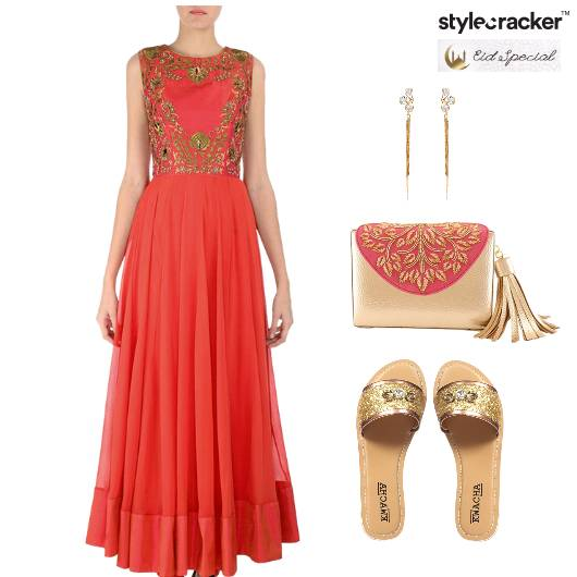 Eid Anarkali Indian Clutch Flats - StyleCracker