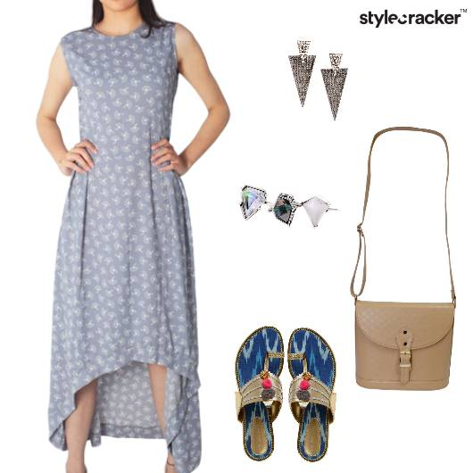Dress Flats Printed Slingbag Brunch - StyleCracker