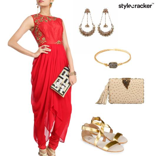 Suit Flats Clutch Earrings Eid Indian - StyleCracker