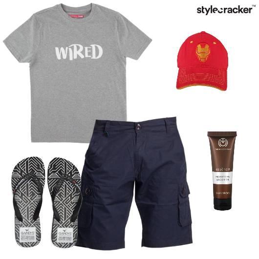 Tshirt Shorts Flipflops Cap Casual - StyleCracker