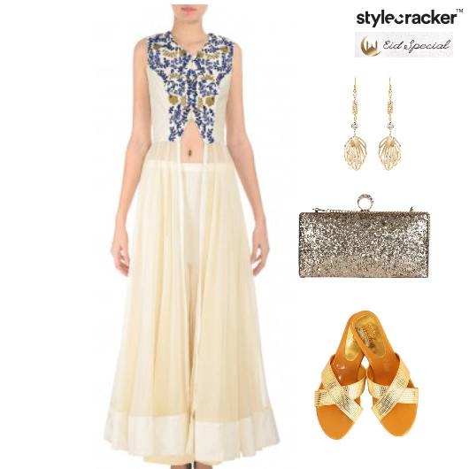 Eid Indian Flats Anarkali Ethnic - StyleCracker