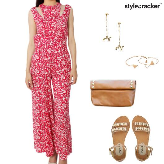 Jumpsuit Prints Casual  - StyleCracker
