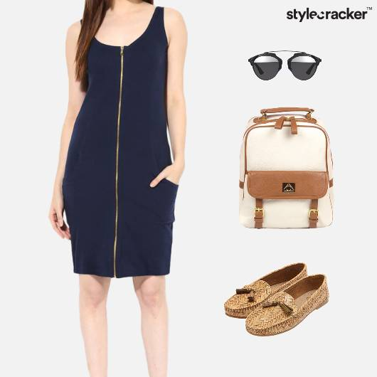 Zipper Dress Backpack College Casual - StyleCracker