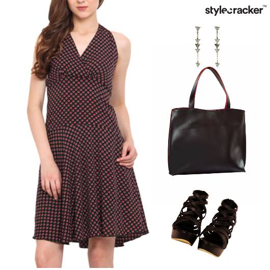 Fit&Flare Dress Dinner Accessories ToteBag - StyleCracker