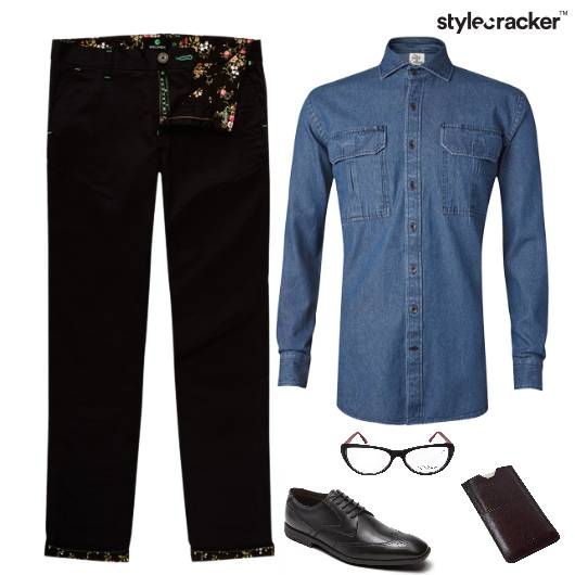 Denim Shirt Chino Pants Dinner - StyleCracker