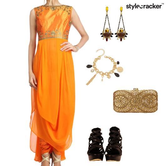 Indian Drapes Ethnic Clutch  - StyleCracker
