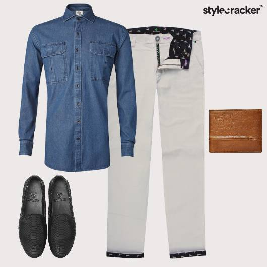 Denim Shirt Casual Slipons  - StyleCracker