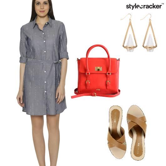 ShirtDress Casual Flats Outdoor - StyleCracker