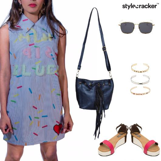 Patch Dress Casual Trending  - StyleCracker