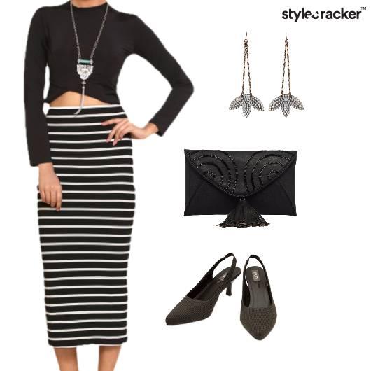Skirt Set Night Party Stripes - StyleCracker