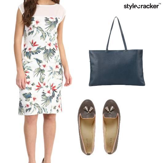 Floral Casual Dress Lunch  - StyleCracker
