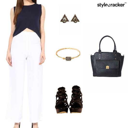 Croptop Pants Dressed Outdoor Lunch - StyleCracker