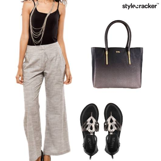 Flared Pants Basic Work Casual  - StyleCracker