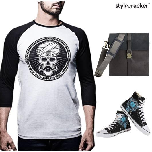 Tshirt Shorts Casual College - StyleCracker