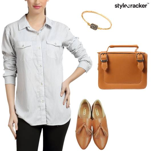 Casual Dayout Lunch Stripes - StyleCracker
