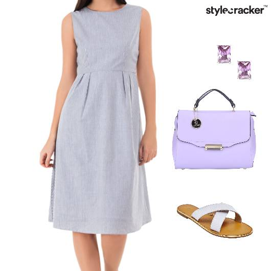 Dress Handbag Studs Sandals - StyleCracker