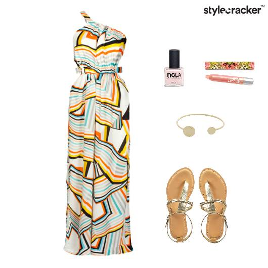 Maxi Dress Flats Accessories Lunch - StyleCracker