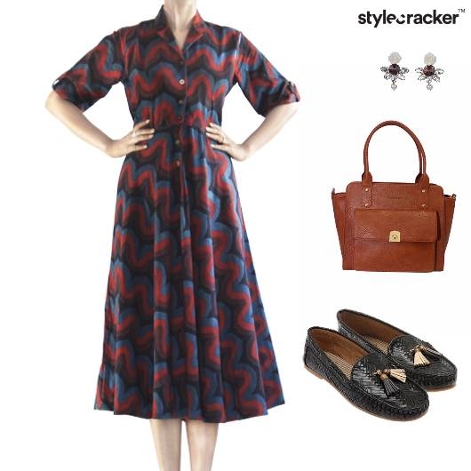Dress Handbag Earrings Flats Classic - StyleCracker