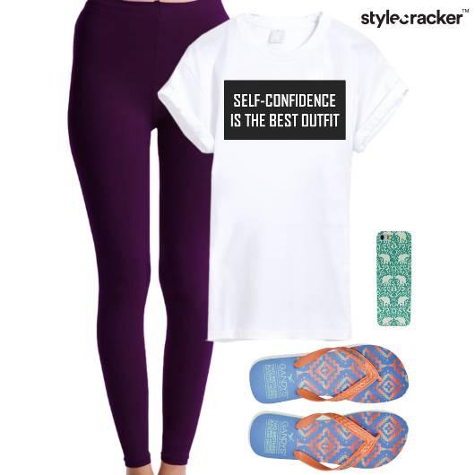 Leggings Tshirt PhoneCover Slippers - StyleCracker