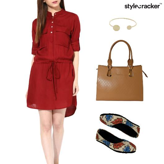 Drawstring Dress BalletFlats Lunch Bracelet - StyleCracker