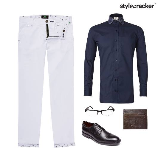 Chinos Pant Shirt Meeting Work  - StyleCracker